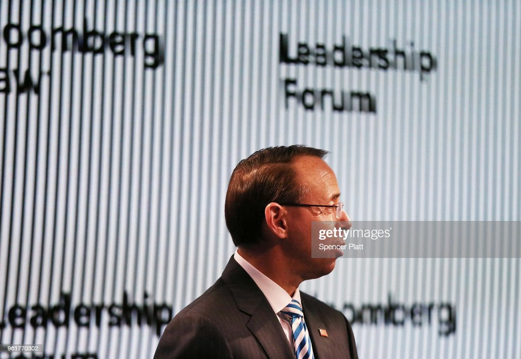 Deputy Attorney General Rod Rosenstein Speaks At The Bloomberg Law Leadership Forum In New York