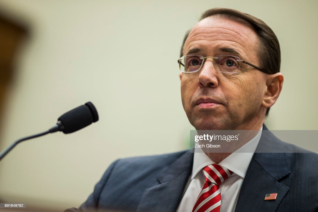 Deputy Attorney General Rod Rosenstein Testifies To House Judiciary Committee On Russia Investigation