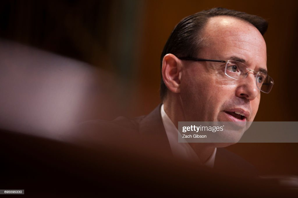 Deputy Attorney General Rod Rosenstein Testifies To Committee On Justice Dept.'s Budget