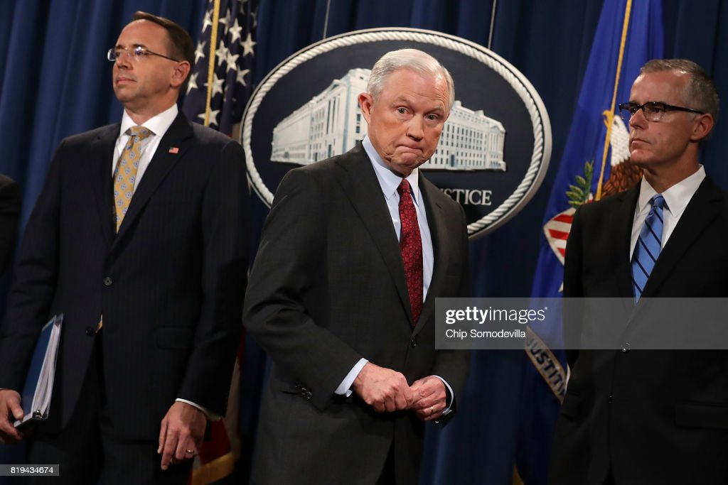 AG Jeff Sessions Announces Int'l Cybercrime Enforcement Action At Justice