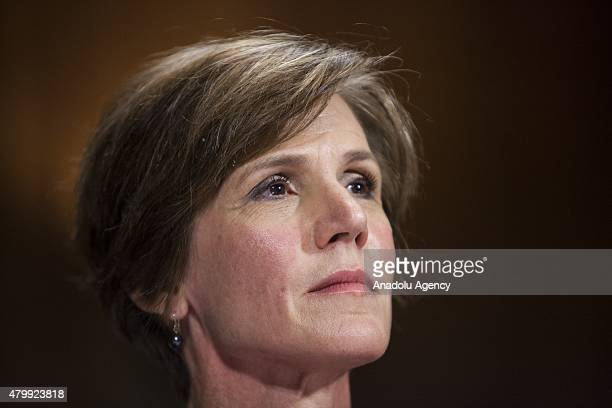 Deputy Attorney General Sally Quillian Yates during a Senate Judiciary Committee hearing on Going Dark and data encryption in Washington USA on JULY...