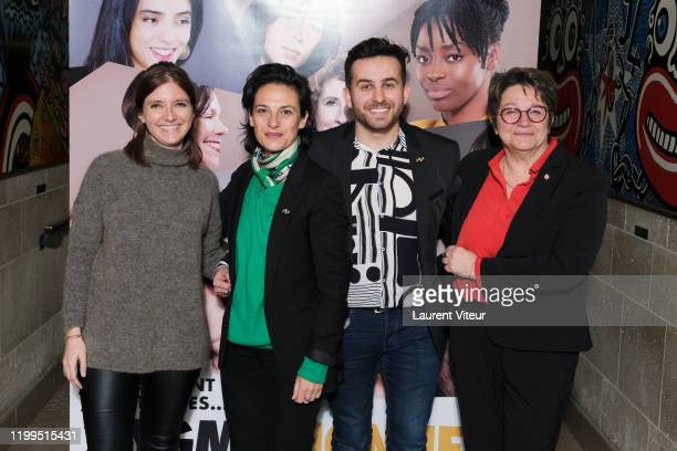 Deputy Aurore Berger Sandrine Braeur Quentin Delcourt and Deputy Carole Bureau Bonnard attend the Pygmalionnes Screening At Assemblee Nationale on...