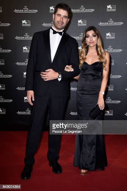 Deputy CEO of JaegerLeCoultre Geoffroy Lefebvre and Amelia Liana arrive for the JaegerLeCoultre Gala Dinner during the 74th Venice International Film...