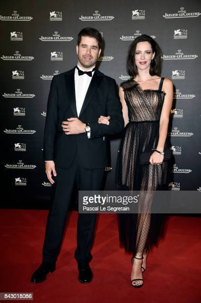 Deputy CEO of Jaeger-LeCoultre Geoffroy Lefebvre and Rebecca Hall arrive for the Jaeger-LeCoultre Gala Dinner during the 74th Venice International...