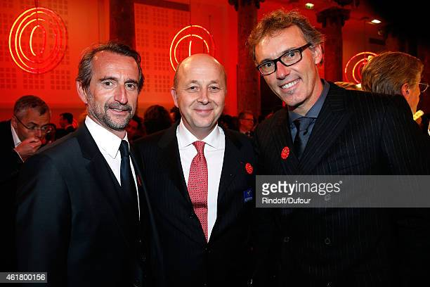 Deputy CEO of PSG Football Team JeanClaude Blanc CoFounder and President of the Foundation Doctor Olivier de Ladoucette and Coach of PSG Football...