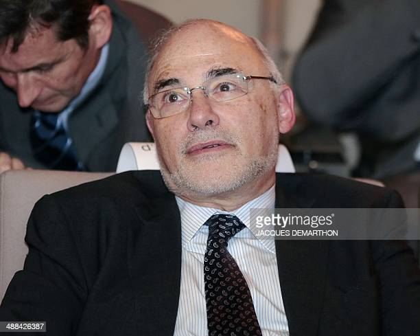 Deputy CEO of SAP AG Leo Apotheker is seen during a general assembly of French electrical engineering group Schneider Electric on May 6 2014 in La...