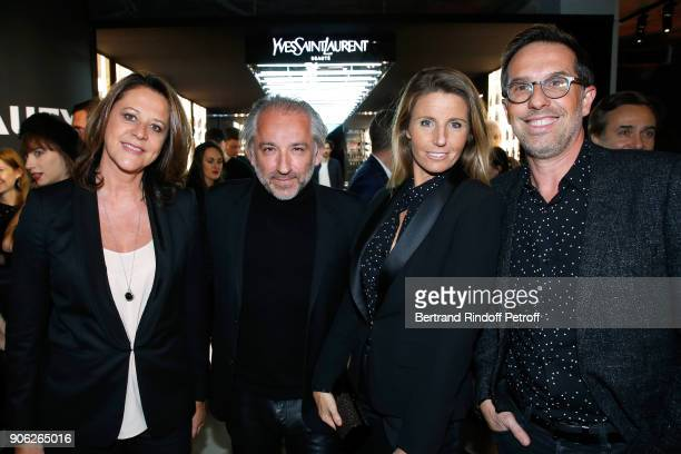 Deputy Chief Executive Officer of L'Oreal Luxe Cyril Chapuy and his wife standing between DG L'Oreal Nicolas Hieronimus and his wife Geraldine attend...