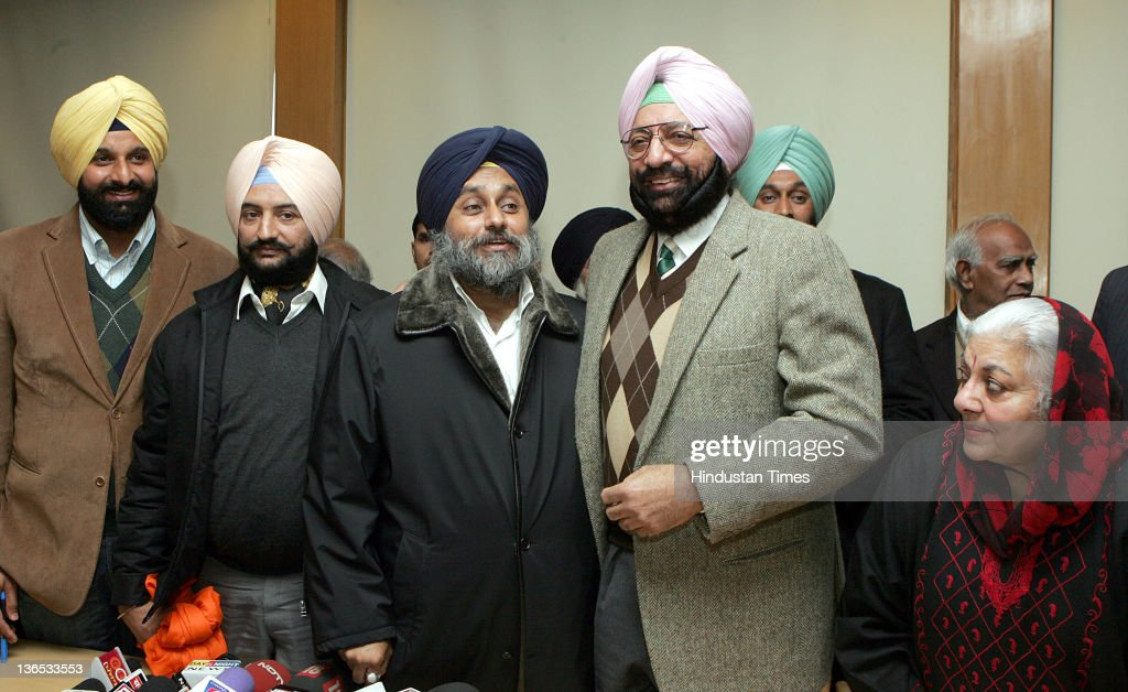 Deputy Chief Minister of Punjab Sukhbir Singh Badal Malwinder Singh younger brother of State Congress Chief Capt Amrinder Singh and Bikram Manjitha...
