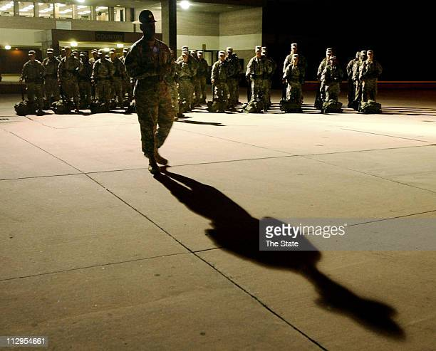 Deputy Commandant First Sgt Tony B Sargent speaks to candidates at the US Army Drill Sergeant School at Fort Jackson South Carolina