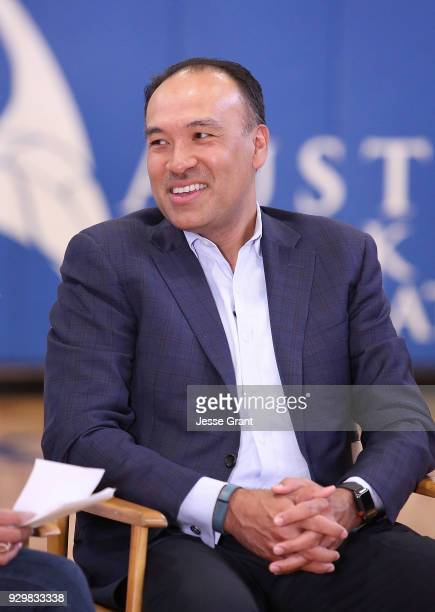 NBA Deputy Commissioner and Chief Operating Officer Mark Tatum during a Facebook Live session at SXSW held at Austin Recreation Center on March 9...