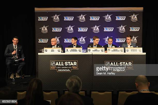 NHL Deputy Commissioner Bill Daly NHLPA Special Assistant to the Executive Director Mathieu Schneider President of Business Operations for the Los...