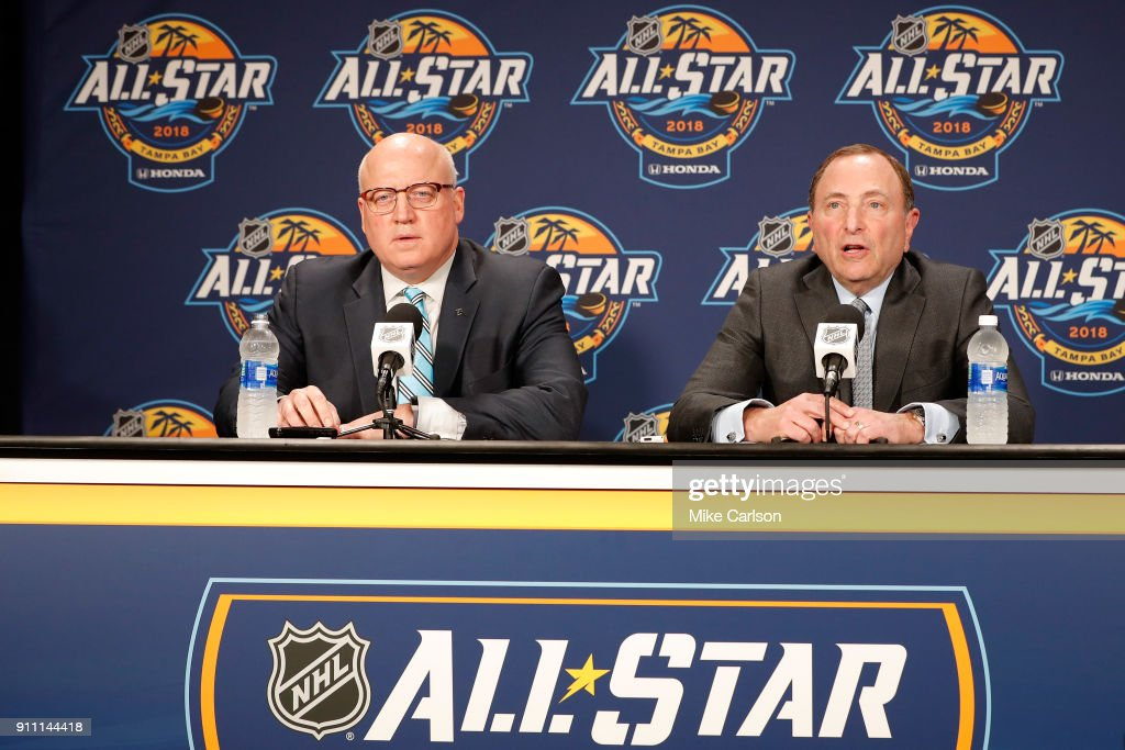 2018 NHL All-Star - Commissioner Gary Bettman Media Availability : News Photo