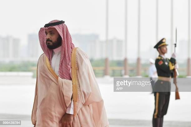 Deputy Crown Prince, Second Deputy Prime Minister and Minister of Defense Muhammad bin Salman Al Saud of Saudi arrives at the Hangzhou Exhibition...