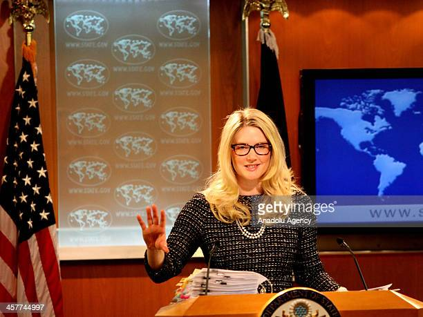 Deputy Department Spokesperson Marie Harf answers the questions about the corruption and bribery investigation led by Istanbul police at daily press...