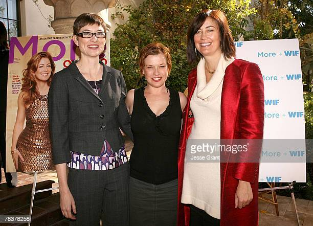 Deputy director of More magazine Barbara Jones director Abigail Zealey Bess and president of Women in Film Jane Fleming at the More Magazine and...