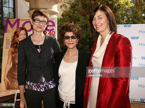 Deputy director of More magazine Barbara Jones director Carmen Maria Milito and president of Women in Film Jane Fleming at the More Magazine and...