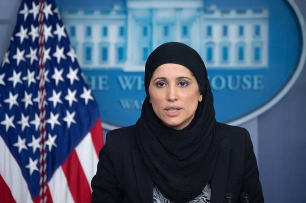 DC: Press Secretary Jen Psaki Along With Advisors Brief Media At The White House