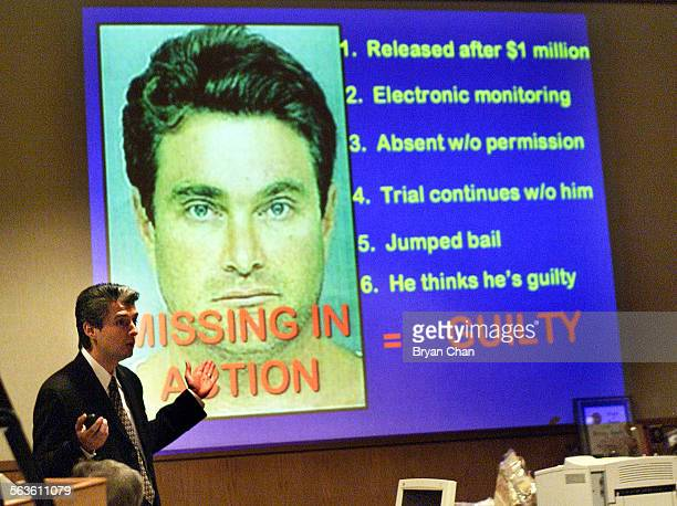 Deputy District Attorney Tony Wold stands by a projection of a photo of Andrew Luster as he wraps up his closing arguments to the jury in Ventura...