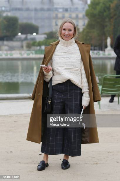 Deputy editor in chief of digital ELLE Germany Alexandra Link attends the Lacoste show as part of the Paris Fashion Week Womenswear Spring/Summer...