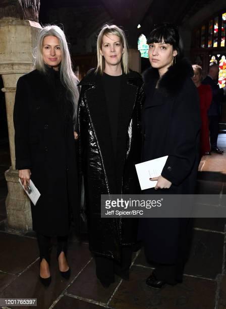 Deputy Editor of British Vogue Sarah Harris attends The Queen Elizabeth II Award for British Design presentation during London Fashion Week February...