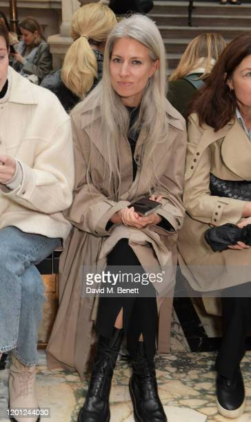 Deputy Editor of British Vogue Sarah Harris attends the Roksanda show during London Fashion Week February 2020 at The British Foreign and...