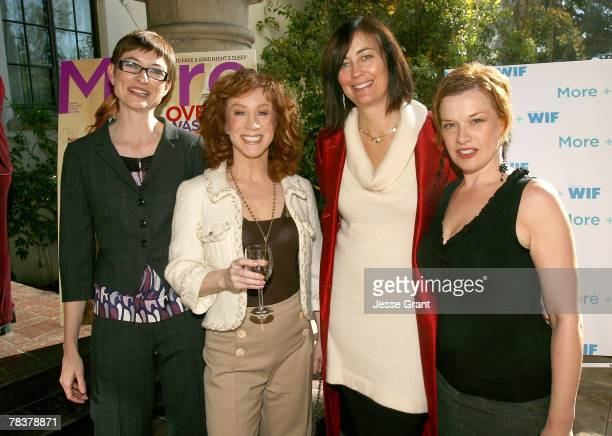 Deputy editor of More magazine Barbara Jones comedian Kathy Griffin president of Women in Film Jane Fleming and director Abigail Zealey Bess at the...