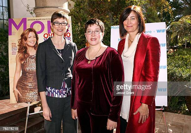 Deputy editor of More magazine Barbara Jones writer Laurie Donahue and president of Women in Film Jane Fleming at the More Magazine and Women In Film...
