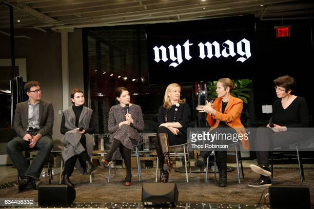 Deputy Editor of The New York Times Magazine Bill Wasik designer Lucy Jones Gail Bichler design director of The New York Times Magazine Rinat Aruh...