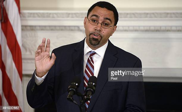 Deputy Education Secretary John B. King Jr. Delivers remarks after being nominated by U.S. President Barack Obama to be the next head of the...