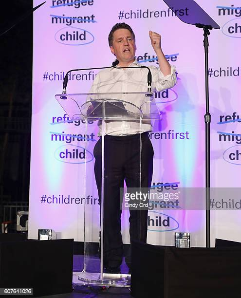 Deputy Executive Director Justin Forsyth speaks onstage at US Fund for UNICEF as it calls on world leaders to put children first during a candlelight...
