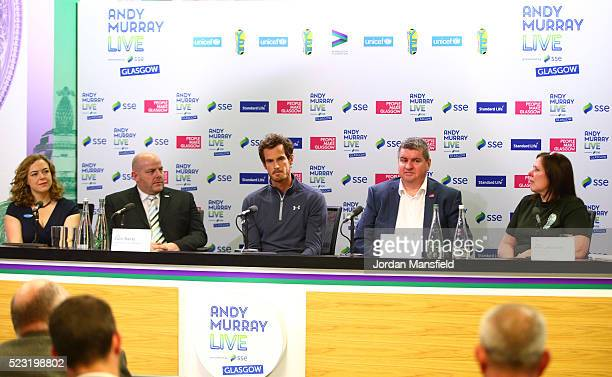 Deputy Executive Director of UNICEF UK Lily Caprani Head of Sponsorship Reward for SEE Colin Banks Andy Murray Head of Major Events for Glasgow City...