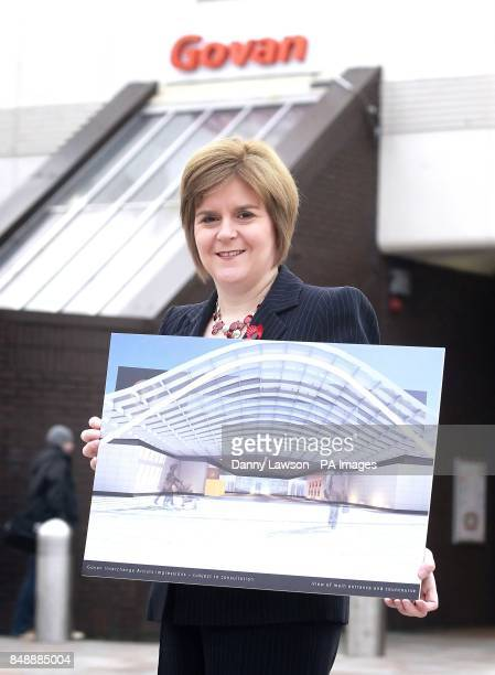 Deputy First Minister Nicola Sturgeon announces pound2million funding for two transport projects in Glasgow and Dundee during a visit to Govan Subway...