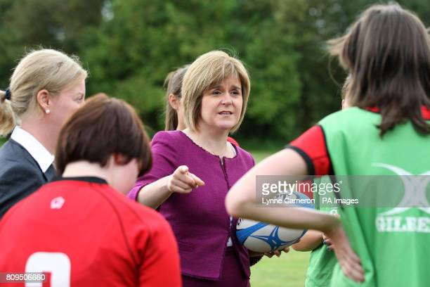 Deputy First Minister Nicola Sturgeon during the Cashback for Communities announcement at Cluny Clays Ltd Fife