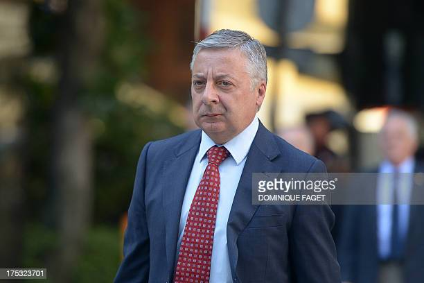 Deputy general of the Spanish Socialist Workers' Party Jose Blanco arrives at the Parliament prior to a special session over allegations that Spanish...