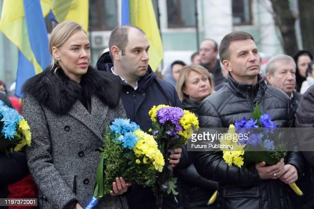 DNIPRO UKRAINE JANUARY 29 2020 Deputy head of the Dnipropetrovsk Regional State Administration Iryna Hrytsai and deputy of the Dnipropetrovsk...