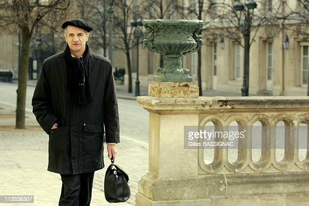 Deputy Jean Lassalle On Hunger Strike At The French National Assembly On March 17Th 2006 In Paris France Here Jean Lassalle The Deputy Of...