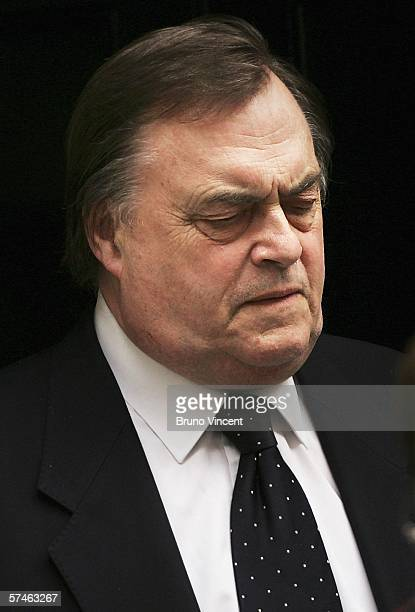 Deputy Leader, John Prescott leaves Number 10 Downing Street after the weekly cabinet meeting on April 27, 2006 in London. British Prime Minister...
