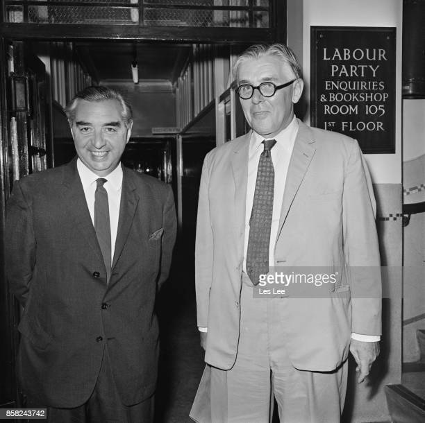 Deputy Leader of the Labour Party George Brown and Labour Party MP Richard Crossman UK 9th September 1964