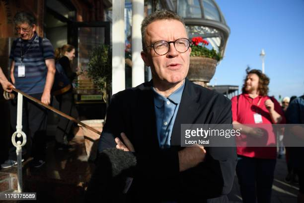 Deputy Leader of the Labour Party Tom Watson arrives at his hotel near to the Brighton Centre the venue for this years Labour Party Conference on...