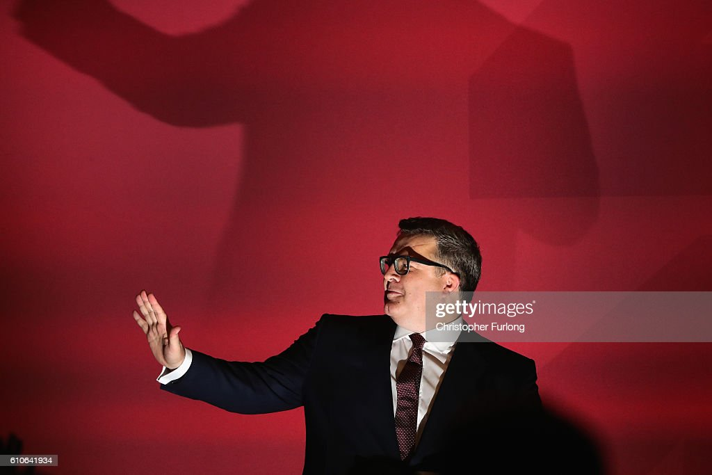 Labour's Deputy Leader Tom Watson Addresses Party Conference : News Photo
