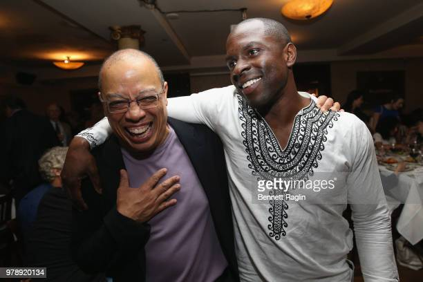 Deputy Legal Director Jeffery Robinson and actor Gbenga Akinnagbe attend the reception for Who We Are A Chronicle Of Racism In America at Tony...