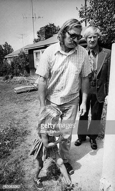 JUL 7 1975 JUL 8 1975 Deputy Marshal David Neff Leads Family to Cars With Newbold is his daughter Katherine