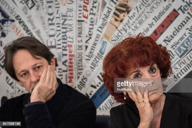 Deputy Mayor and Councillor for Cultural Growth Luca Bergamo with the Minister of Education Valeria Fedeli during the Press conference to the foreign...