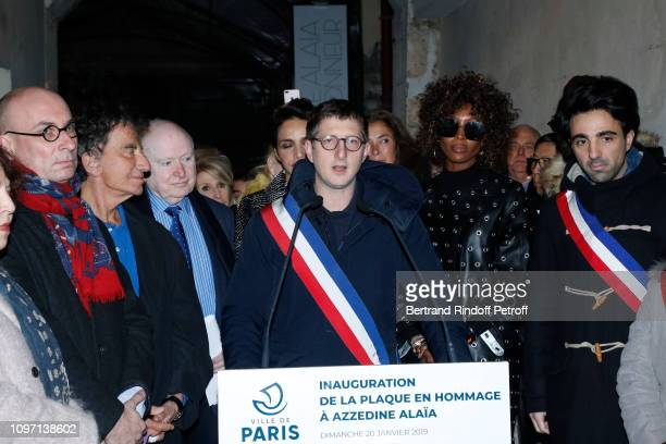 Deputy Mayor of Paris responsible for the nightlife and diversity of the cultural economy Frederic Hocquard Jack Lang artist Christophe Von Weyhe...