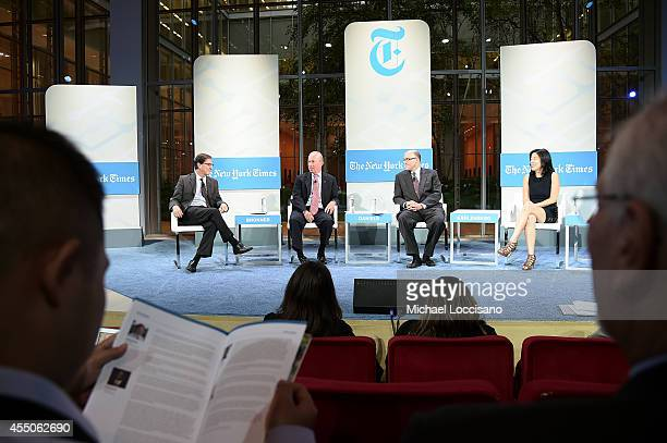 Deputy national editor of The New York Times Ethan Bronner, president of Purdue University Mitch Daniels, senior fellow at The Century Foundation...