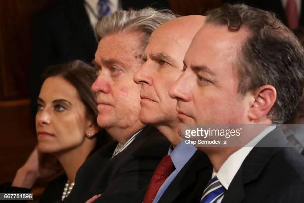 Deputy National Security Advisor for Strategy Dina Powell White House Chief Strategist Steve Bannon National Security Advisor HR McMaster and White...