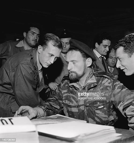 Deputy of Algiers Pierre Lagaillarde instigator of the days of insurrection called the week of the barricades during January 1960 in Algiers Algeria