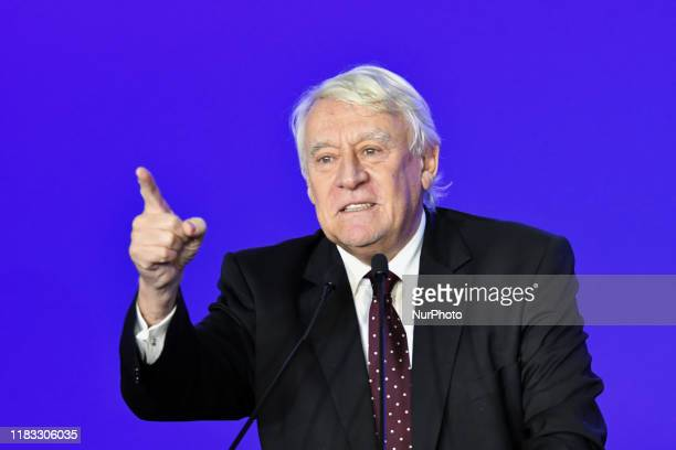 Deputy of Les Republicains right-wing party Claude Goasguen tells the people of Paris that Rachida Dati is candidate of the right-wing party - LR -...
