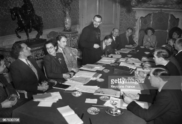 deputy of Meurthe et Moselle participating in the meeting of the federalist leaders of the Universal Movement for a Global Confederation as...