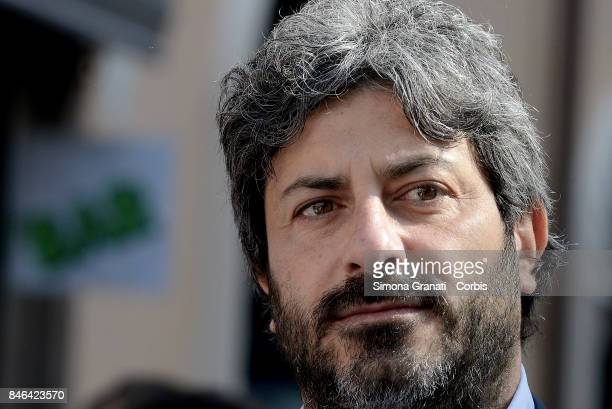 Deputy of the Movement 5 Stars Roberto Fico during the demonstration in Pantheon Square to solicit approval of a whistleblower law against corruption...